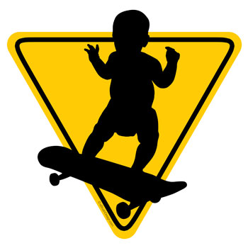 baby on board skateboard