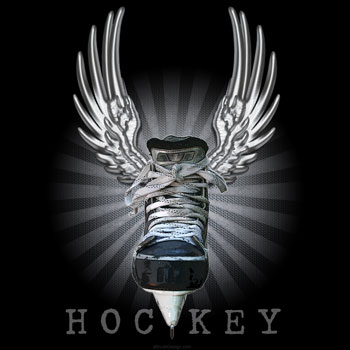 Winged Hockey Skate