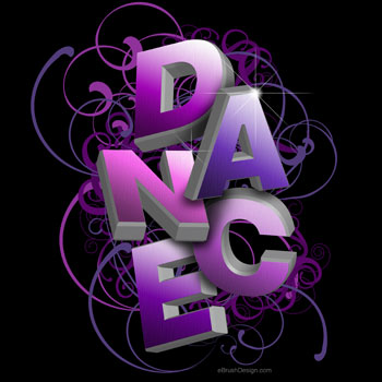 3D Dance typography